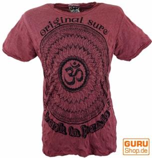 Sure T-Shirt Mandala OM - bordeaux