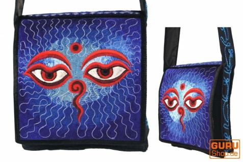 Hippie Tasche, Bestickte Motivtasche Buddha Eye