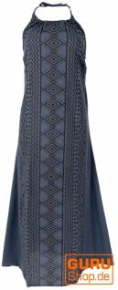 Natürliches Neckholderkleid, Boho Sommerkleid, Maxikleid - taubenblau