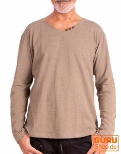 Pullover aus Bio-Baumwolle / Chapati Design - beige