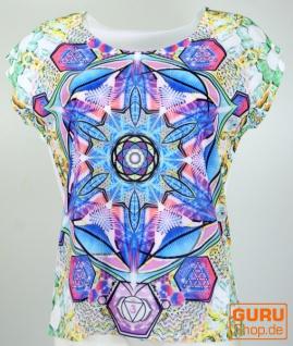 Psytrance T-Shirt, Yoga T-Shirt, Retro T-Shirt - Lebens Pyramide