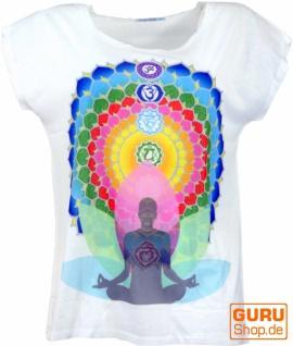 Psytrance T-Shirt, Yoga T-Shirt, Retro T-Shirt - 7 Chakra Yogi