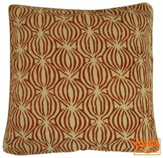 Kissenbezug Blockdruck, Kissenhülle Ethno, Dekokissen Bezug mit traditionellem Design - Muster 26