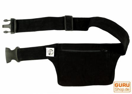 Bestickte Gürteltasche, Schultergurt, Ethno Sidebag - schwarz/blau - Vorschau 4