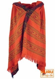 Indischer Schal / Stola, Ethno Tuch/Decke - rostorange