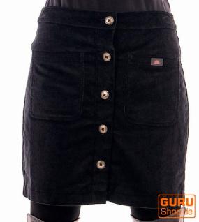 Knielanger Rock aus Bio-Baumwolle / Chapati Design - black