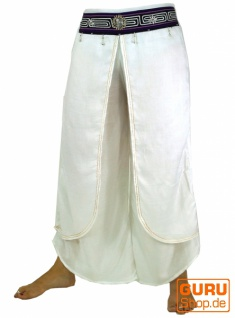 Palazzohose, offene Sommerhose, Chang Hose - weiß