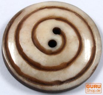 Tibet Knopf aus Horn - 2