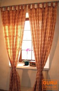 Baumwollvorhänge, Gardinen mit Fisch Motiv handbedruckter Vorhang, Gardine