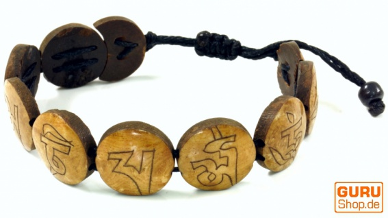 Buddhistisches Armband Mantra - braun Modell 10