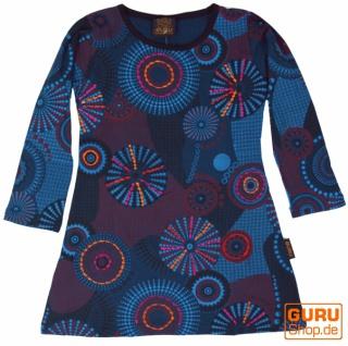 Bestickte Mädchen Tunika, Ethno Minikleid, Kinderkleid - blau