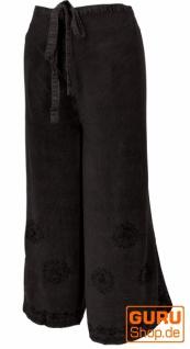 Palazzohose, langer Boho Hosenrock, Wickelhose, Sommerhose schwarz - Modell 4