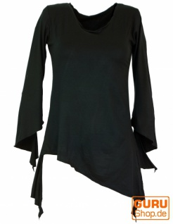 Psytrance Elfen Shirt Goa chic - schwarz
