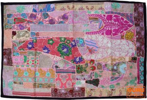 Indischer Wandteppich Patchwork Wandbehang, Einzelstück 150*100 cm - Muster 43