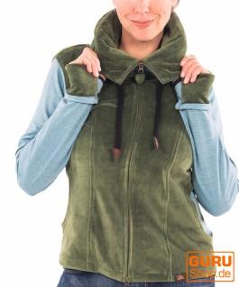 Jacke mit Kapuze aus Bio-Baumwolle / Chapati Design - green