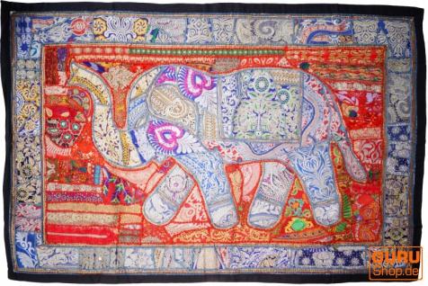 Indischer Wandteppich Patchwork Wandbehang, Einzelstück 150*100 cm - Muster 2