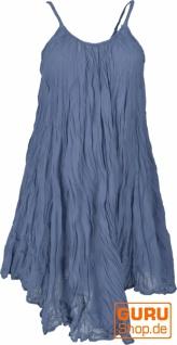 Boho Krinkelkleid, Minikleid, Sommerkleid, Strandkleid - taubenblau