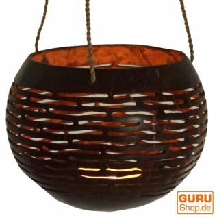 Kokosnuss Teelicht zum Hängen - Modell 3