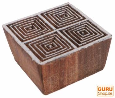 Indischer Textilstempel, Stoffdruckstempel, Blaudruck Stempel, Holz Model - 4*4 cm Spirale 5
