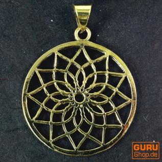 Indisches`Flower of life` Amulett, Talisman Medaillon - Model 3 - Vorschau 2
