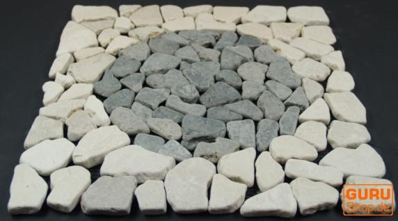 Mosaikfliese mit Kreis aus Marmor (Mo-08) - Design 20 - Vorschau 2