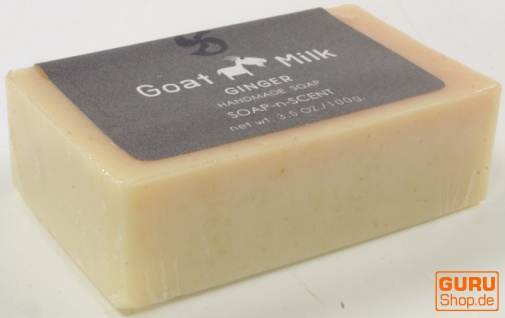Handgemachte Ziegenmilch Seife, 100 g Fair Trade - Ingwer - Vorschau 2