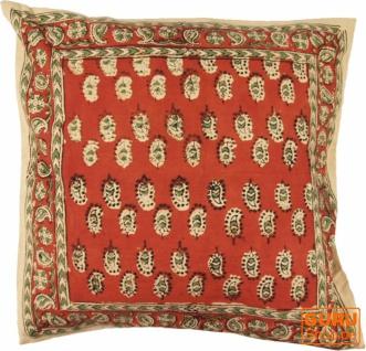 Kissenbezug Blockdruck, Dekokissen Bezug, Kissenhülle Ethno, Traditionelle Herstellung - Muster 32