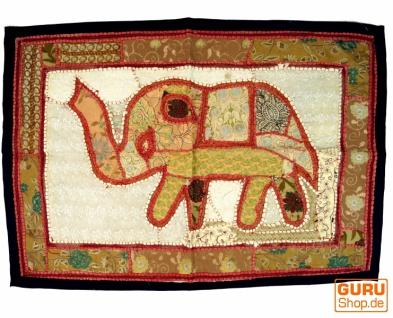 Indischer Wandteppich Patchwork Wandbehang/Tischläufer Einzelstück 90*65 cm - Muster 13