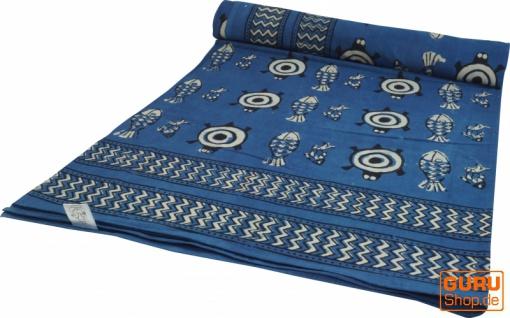 Blockdruck Tagesdecke, Bett & Sofaüberwurf, handgearbeiteter Wandbehang, Wandtuch - Design 4
