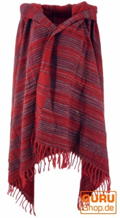Weicher Goa Schal, großes Schultertuch, indischer Schal/Stola - rot