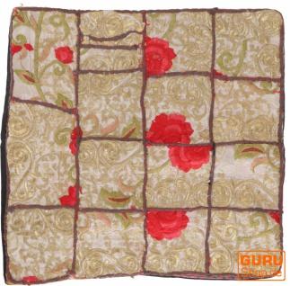 Patchwork Kissenhülle, Dekokissen Bezug aus Rajasthan, Einzelstück - Muster 8