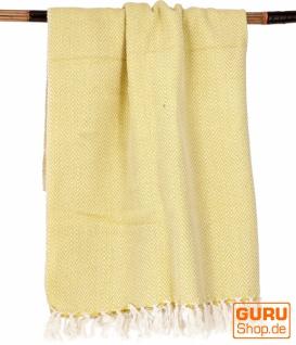 Hamamtuch, Saunatuch, Strandtuch - gelb