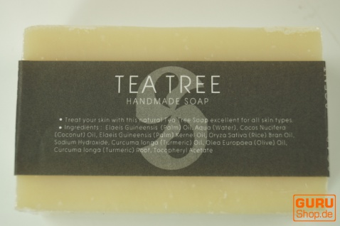Handgemachte Duftseife, 100 g Fair Trade - Teebaumöl - Vorschau 2