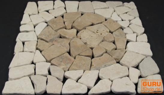 Mosaikfliese mit Kreis aus Marmor (Mo-07) - Design 19 - Vorschau 2