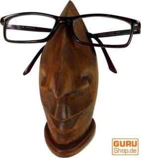Brillenständer aus Holz - dunkelbraun