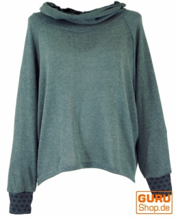 Hoody, Sweatshirt, Pullover, Kapuzenpullover - taubenblau