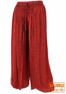 Palazzohose, langer Boho Hosenrock, Orienthose, Sommerhose - rot