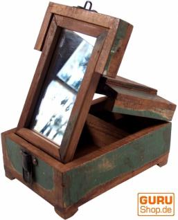 Spiegelschatulle Schmink Spiegel - antik 3