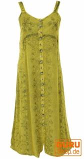 Besticktes Boho Sommerkleid, indisches Hippie Trägerkleid - lemon/Design 20