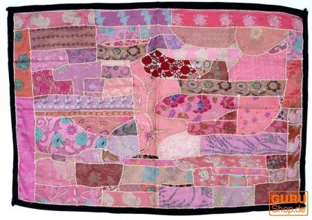 Indischer Wandteppich Patchwork Wandbehang, Tischläufer, Einzelstück 85*45 cm - Muster 1