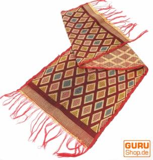 Traditionelles handgewebtes Ikat Tuch, Tischläufer, Tischdecke aus Sumba, 150 x 47cm - Motiv 6
