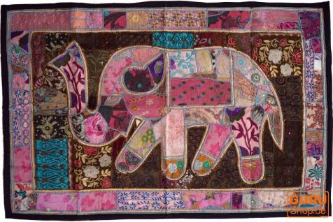 Indischer Wandteppich Patchwork Wandbehang, Einzelstück 150*100 cm - Muster 38