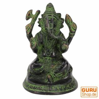 Messingfigur Ganesha Statue 11 cm - Motiv 18