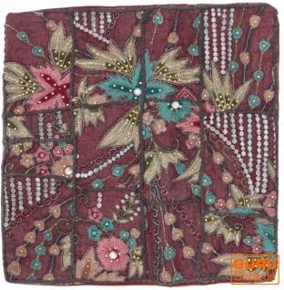Patchwork Kissenhülle, Dekokissen Bezug aus Rajasthan, Einzelstück - Muster 57
