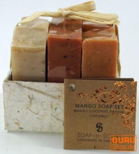 Seifenset, Geschenkset - Tropical - 3 x Duftseife 100 g, Fair Trade - Vorschau 2