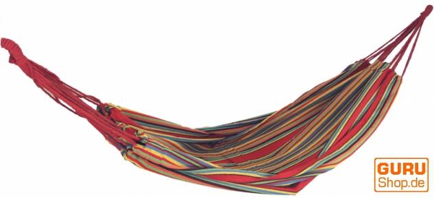 Outdoor Hängematte, 200x150 cm, 1-2 Personen - rot gelb grün