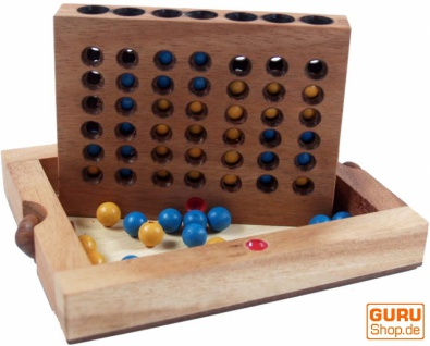 Brettspiel, Gesellschaftsspiel aus Holz - Vier Gewinnt Bingo
