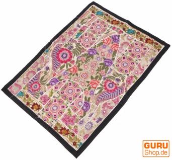 Indischer Wandteppich Patchwork Wandbehang/Tischläufer Einzelstück 90*65 cm - Muster 11