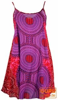 Boho Mandala Minikleid, Trägerkleid, Strandkleid - fuchsia