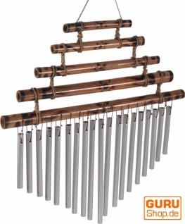Aluminium Klangspiel, exotisches Windspiel mit Bambus - Variante 5